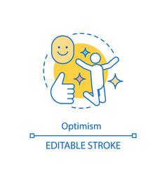 optimism concept icon good mood enjoying life vector image