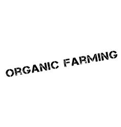 Organic farming rubber stamp vector
