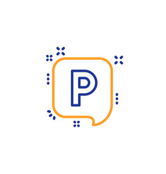 parking line icon car park sign vector image