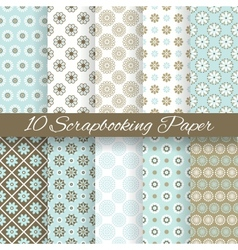 Pattern papers for scrapbook tiling vector