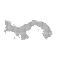 pixel map of panama dotted map of panama isolated vector image