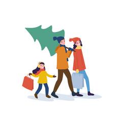 Preparation for christmas holidays winter season vector