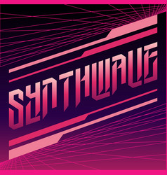 purple pink inscription synthwave vector image