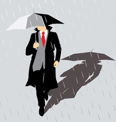 Rain Man with umbrella vector