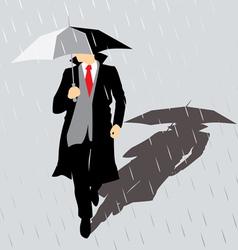 rain Man with umbrella vector image