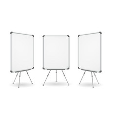 realistic detailed 3d white board set vector image