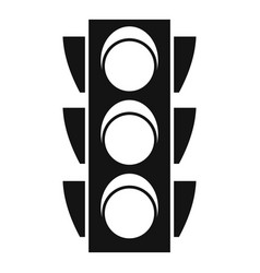 regulation traffic lights icon simple style vector image