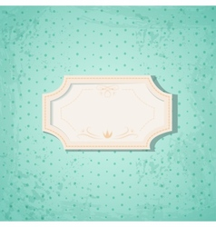 Retro Frame on Blue Spotted Background vector