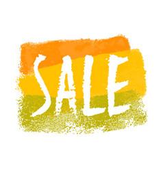 Sale watercolor label vector