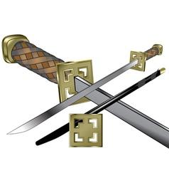 Samurai weapon vector