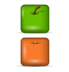 Set 1 of app icons fruits vector