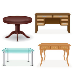 set table vector image