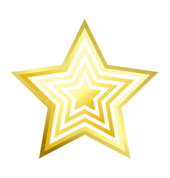 shiny bright five-pointed star flat vector image
