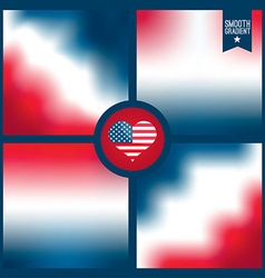 Smooth background of american color vector image