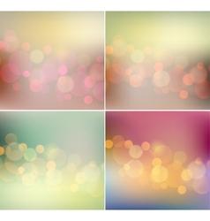 Soft light blurred background retro color vector