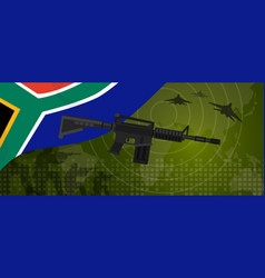 south africa military power army defense industry vector image