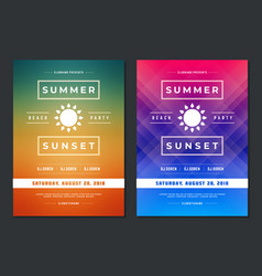 Summer party design poster or flyer night club vector