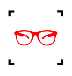 Sunglasses sign red icon vector