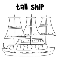 Tall ship transport vector
