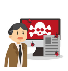 technology and virus vector image