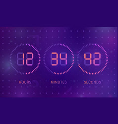 template of count days vector image