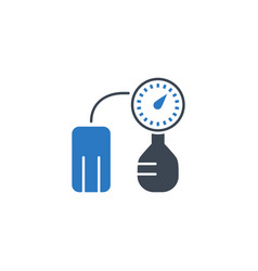 tonometer related glyph icon vector image