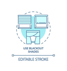 Use blackout shades turquoise concept icon vector