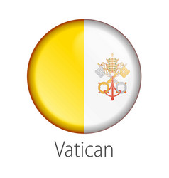 vatican round button flag vector image