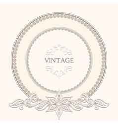 Vintage round frame vector image