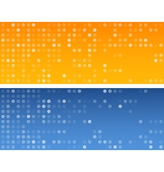 Circles technology banners vector image
