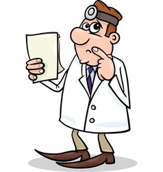 concerned doctor cartoon vector image vector image