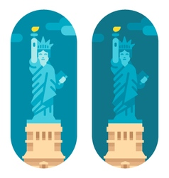 Flat design liberty statue vector image vector image