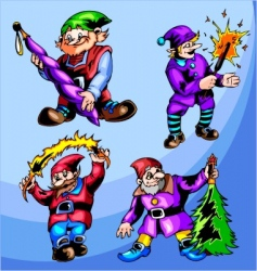 gnomes vector image