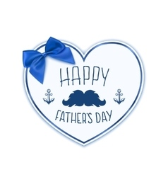 Happy Fathers Day Background with paper heart vector image vector image