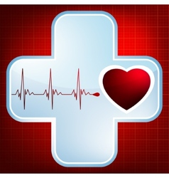 Heart and heartbeat symbol EPS 8 vector image