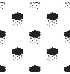 Snowfall icon in black style isolated on white vector