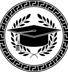 square academic cap vector image vector image