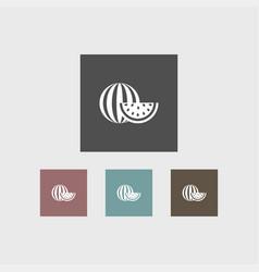 watermelon icon simple vector image