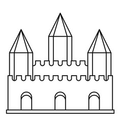 ancient fort with towers icon outline style vector image vector image