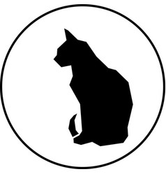 black silhouette of cat vector image