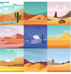 desert mountains sandstone wilderness landscape vector image vector image
