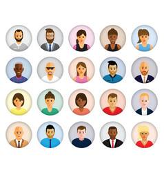 people profiles vector image vector image