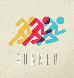 Runner fitness people concept icon color design vector image vector image