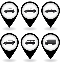 transport set of car icon vector image