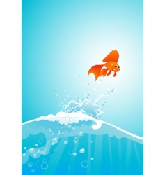 goldfish jump vector image vector image