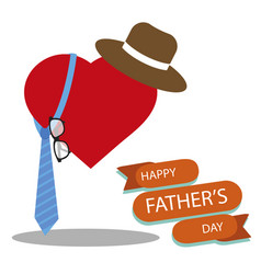 happy fathers day greeting with white background vector image