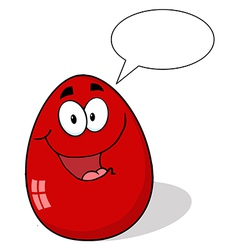 Red Easter Egg Mascot Cartoon Character vector image