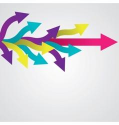 sticker arrows vector image