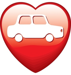 Heart Shape with car vector image