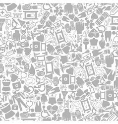Medical icons background vector image vector image